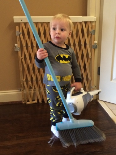 Fights crime by night, cleans houses by day. #multitalentedtoddler