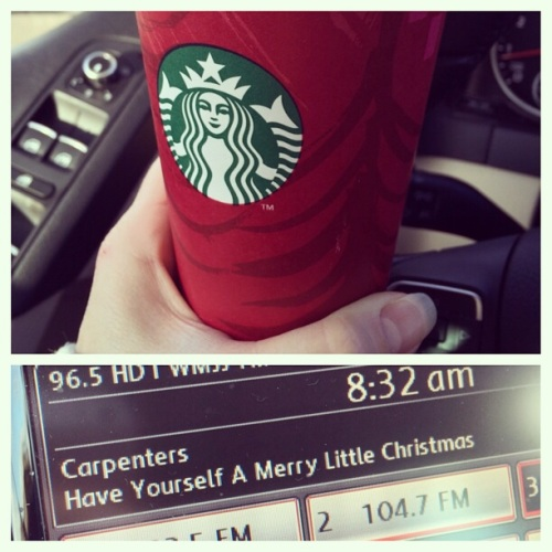 November 1st means red cups and peppermint mocha's at Starbucks and 24/7 Christmas music.