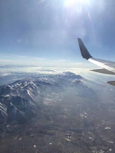 Flying in to Salt Lake City
