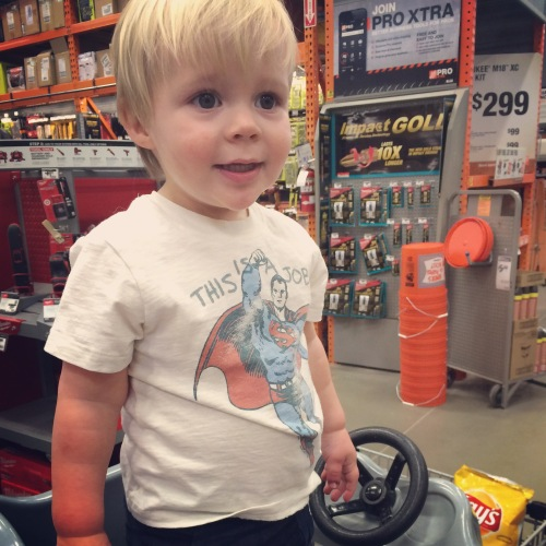 We've been frequenting Home Depot A LOT.