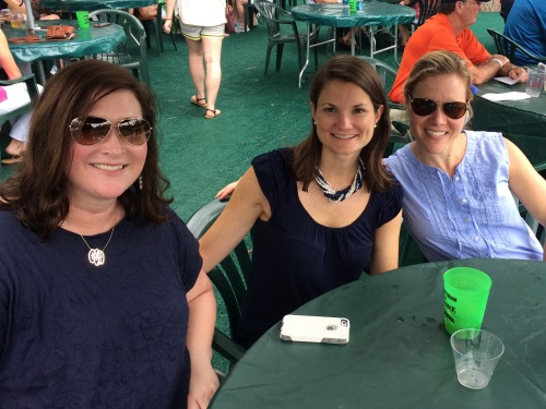 Enjoying the golf tournament with Cassie and Mary Leah